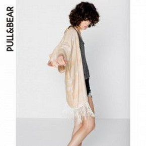 PullAndBear 女士印花和服式外衣 79元