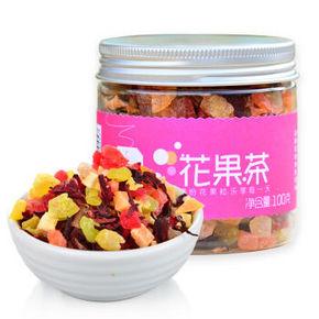 简品 花果茶 果粒水果茶圆罐 100g 9.9元