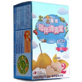 每伴 清清宝优+系列 盒装2段 冰糖雪梨 8g*20包 21元