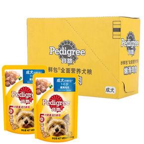 Pedigree 宝路 宠物狗粮 成犬妙鲜包鸡肉 100g*12包 24.4元