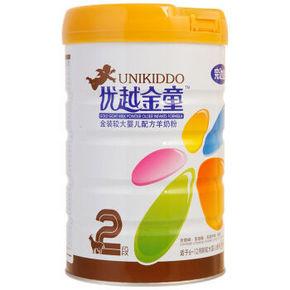 完达山 优越金童金装婴儿配方羊奶粉 2段 800g 92.4元