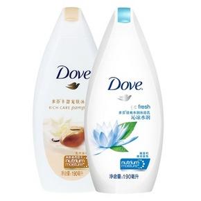 Dove 多芬 清爽水润沐浴露衡悦水润 190ml*2瓶 17.9元包邮