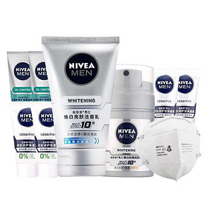 NIVEA 妮维雅 男士焕白亮肤套装 赠7小样 98元包邮