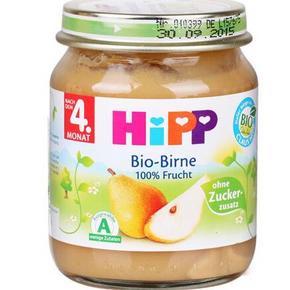 HIPP 喜宝 有机梨子泥 125g 4个月以上 11.7元(9.9+1.8)
