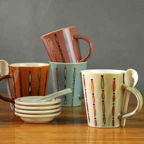 创意陶瓷杯子马克杯 带勺 券后7.8元包邮