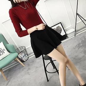 天猫:禾袖女士百修身纯色针织衫 16.8元包邮