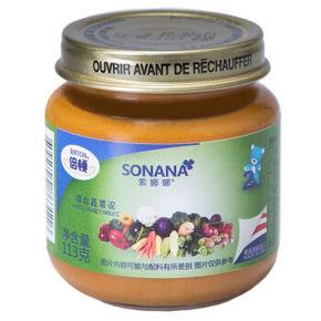 倍顿 索娜娜混合蔬菜泥 6-36个月 113g 折6.6元(买3免1)