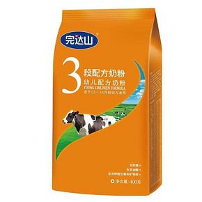 完达山 幼儿配方奶粉3段(1-3岁适用)400g 19元