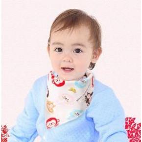 红派娃 纯棉婴儿口水巾5条 9.5元包邮(12.5-3券)