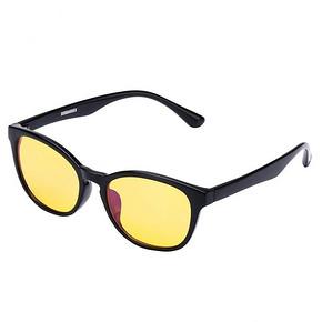 庞巴迪挑战者 中性款黑色镜框黄色镜片护目镜 15元(下单3折)