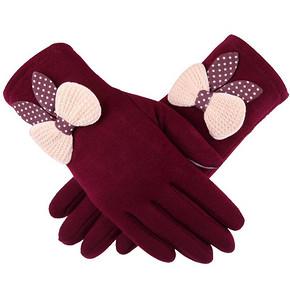 名芳 女士秋冬季加绒保暖骑车触屏手套 拍下8.8元包邮