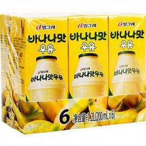宾格瑞 香蕉味牛奶饮料200ml*6 29.9元