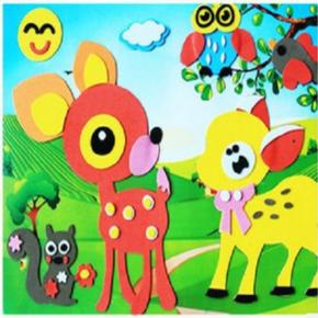 儿童手工制作立体动物水果拼盘