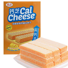 印度尼西亚进口 钙芝 奶酪味高钙威化饼干 216g 8.9元