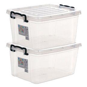 禧天龙 塑料收纳箱2个装 49.9元