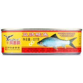 鹰金钱 豆豉鲮鱼罐头227g 10.8元