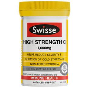 Swisse高强度维生素C 60片*2件 116元(69,2件75折)
