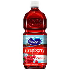 优鲜沛ocean spray 蔓越莓综合果汁 1L 12.9元
