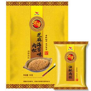 统一 满汉 芝麻海苔味肉松 100g 折9.9元(5件5折)