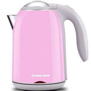 PLUS会员专享# Grelide 格来德 304双层不锈钢电热水壶1.7升 39元