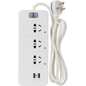 CHOSEAL 秋叶原 三位单控独立开关USB充电插座 1.8米 折24.7元(99选4件)
