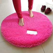 鹏丰基 圆形纯色简约地毯 5.8元包邮