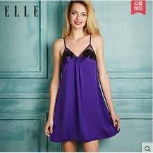 ELLE V型纯色女士家居吊带裙 49元包邮