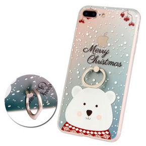 TIMECITY IPhone7/7plus 北极熊手机壳指环支架 9.9元包邮