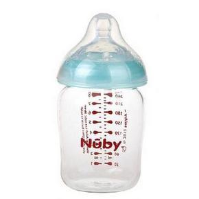 Nuby 努比 自然乳感 高硼硅玻璃奶瓶 240ml 16.9元