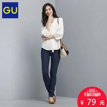 双12预告# GU 极优 女士紧身牛仔裤 79元