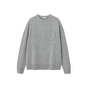 双12预告# GU 极优 羊毛混纺男士圆领针织衫 79元