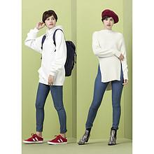 双12预告# GU 女装牛仔紧身裤 59元