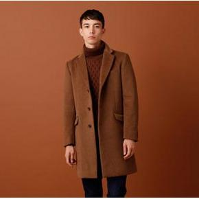双12预告# 优衣库起旗下 GU 男士日系中长款毛呢大衣 299元包邮