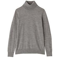 双12预告# 无印良品 女式羊毛高领毛衣 99元