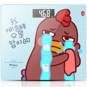 德尔玛  小幺鸡卡通电子秤 19.9元
