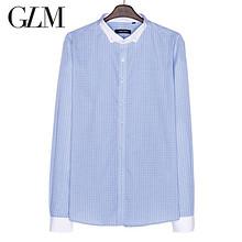 GLM 春装男士时尚休闲修身长袖衬衫 9.9元包邮
