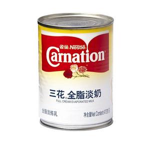 雀巢 三花全脂淡奶罐装 410g 6.8元