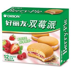 倍享酸甜# 好丽友 双莓派 夹心蛋类芯饼 12枚 折8.2元(16.4,2件5折)