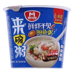 麦丹郎 鲜虾干贝鲍鱼粥 43g 1元