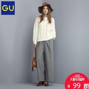 双12提前购物车# GU 极优 女士羊毛混纺针织衫 99元