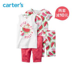 Carter's 婴幼儿小猴子西瓜4件套装 59元