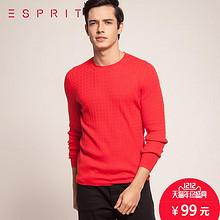 双12提前购物车# ESPRIT 男士羊绒真丝针织衫 99元