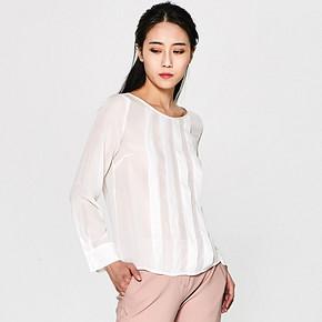 双12预告# ASOBIO 时尚百搭白色女式梭织变化衬衫 券后19元