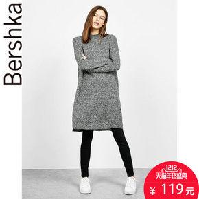 双12预告# Bershka 女士 亚洲限定长版侧开叉针织衫 119元