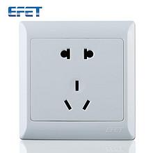 EFET 86型五孔开关插座面板 雅白色 1.9元包邮