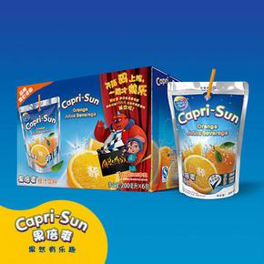 Capri-Sun 果倍爽 橙汁饮料 200ml*6包 5.9元