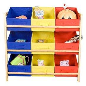 雅客集 松木儿童彩色玩具收纳架 99元包邮