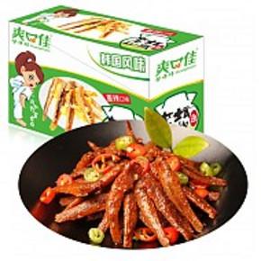 爽口佳 泡椒味小鱼仔 休闲零食鱼干 15g*20包 折9.8元(19.8,99-50)