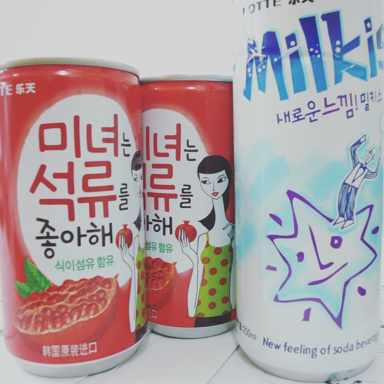 LOTTE 乐天 牛奶苏打碳酸饮料 250ml
