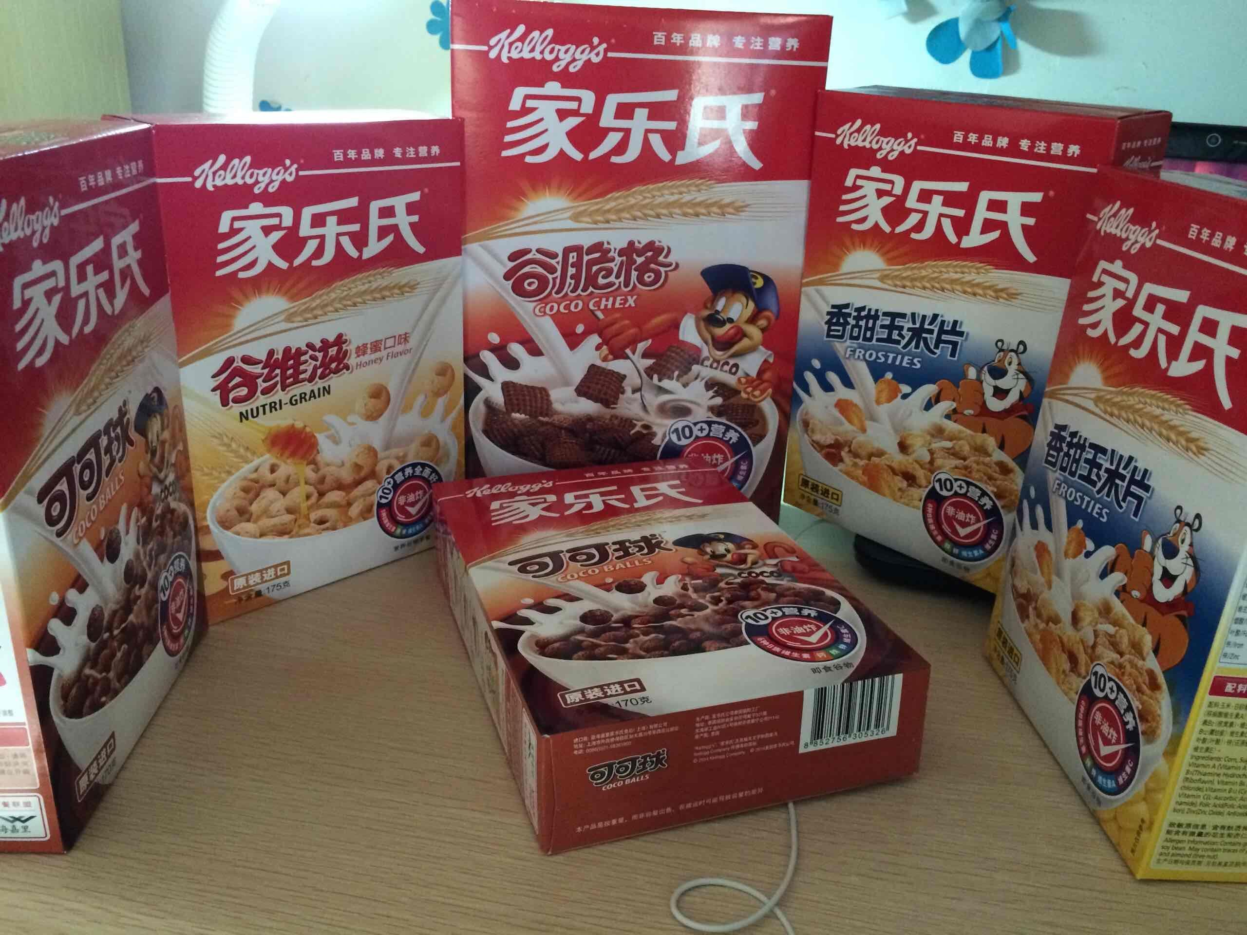 泰国进口 Kellogg's 家乐氏 可可球玉米片 营养早餐 330g